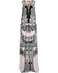 Roberto Cavalli Printed Jersey Dress pink - Lyst