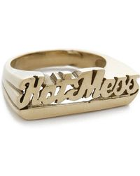 Snash Jewelry Hot Mess Ring - Gold - Metallic