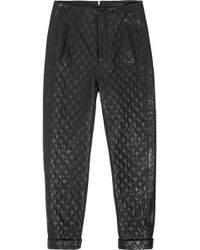 Rag & Bone Quilted Leather Straight-leg Pants - Lyst