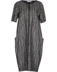 Jil Sander Knee-Length Dress gray - Lyst