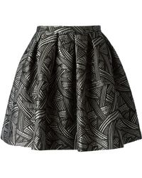 Charlott - Jacquard Pleated Skirt - Lyst