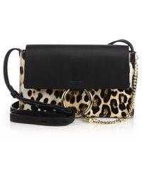 Chloé | Faye Small Leopard-print Calf Hair & Leather Crossbody Bag | Lyst