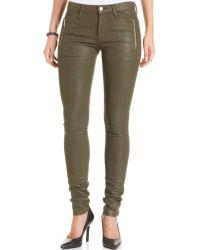Joe's Jeans Zipper Waxed Skinny Jeans - Lyst