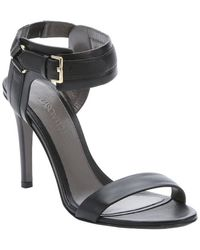 Jason Wu Black Leather Ankle Strap Sandals - Lyst