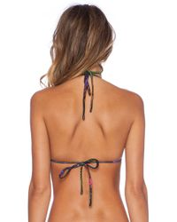 Osklen - Palm Tree Ruffle Bikini Set - Lyst
