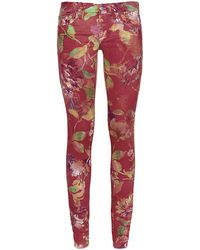 Ralph Lauren Blue Label Flower Print Skinny Jeans - Lyst
