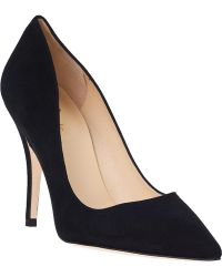 Kate Spade Licorice Pump Black Suede - Lyst
