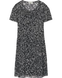 Burberry Brit - Leopard-print Silk-gauze Mini Dress - Lyst