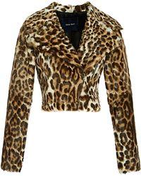 Peter Som - Leopard Goat Moto Jacket - Lyst