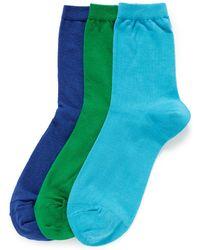 Hansel From Basel 'Cool' Crew Socks 3-Pair Pack green - Lyst