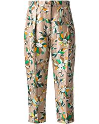 Ostwald Helgason - Floral Print Tailored Trouser - Lyst