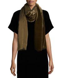 Eileen Fisher   Washable Velvet Wrap Scarf   Lyst