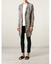 La Prestic Ouiston - Leopard-Print Coat - Lyst