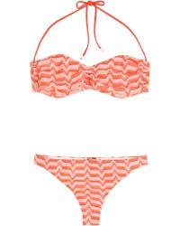 Missoni Mare Bandeau Knit Bikini - Lyst