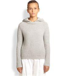 Michael Kors Cashmere Hooded Shaker Sweater - Lyst
