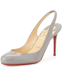 Christian Louboutin Fifi Patent Slingback Red Sole Pump red - Lyst