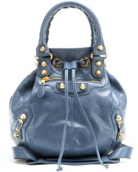 89aaf44c6a90 Giant Mini Pompon Leather Shoulder Bag ... Info Make sure your favorite  looks stand out from the crowd with this stunning blue Giant Mini Pompon ...