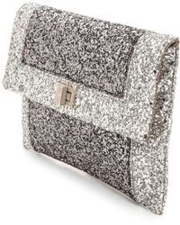 Anya Hindmarch Valorie Border Clutch Anthracite - Lyst