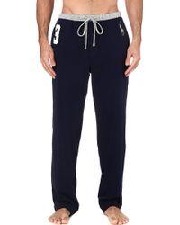 Ralph Lauren Number 3 Pyjama Bottoms Navy - Lyst