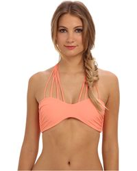Mikoh Swimwear Kahala Front Criss Cross Top - Lyst