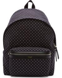 Saint Laurent Black and Ecru Star Print Hunting Backpack - Lyst