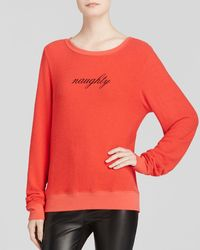 Wildfox Pullover - Naughty - Lyst