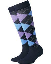 Smythson - Covent Garden Check Knee High Socks - Lyst