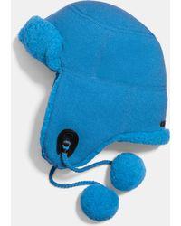 COACH Sheepskin Trapper Hat - Blue