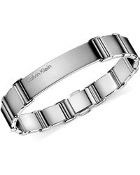 CALVIN KLEIN 205W39NYC -  Mens Stainless Steel Polished Link Bracelet - Lyst