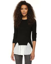 Top Secret - Chiffon Ruffle Sweater - Lyst