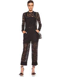 Nina Ricci Black Lace Overalls - Lyst