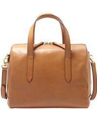 Fossil - Sydney Leather Satchel Bag - Lyst