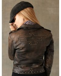 RRL Leather Motorcycle Jacket - Lyst