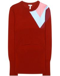 Loewe Leather-Trimmed Wool Sweater - Lyst