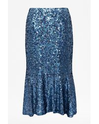 French connection Sirius Sequins Mermaid Skirt - Lyst
