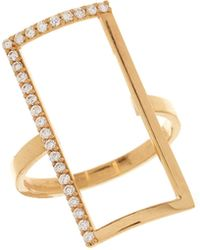 Lana Jewelry 14K Illusion Diamond Ring - Lyst