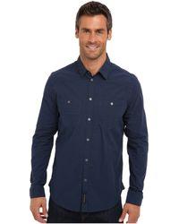 Calvin Klein Jeans Blue Plaid Ls Woven Shirt - Lyst