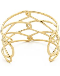 Alexis Bittar Scattered Pave Crystal Barbed Cuff Bracelet - Gold - Lyst