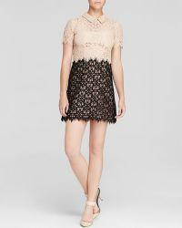 DKNY Color Block Lace Dress - Lyst