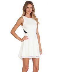 Alice + Olivia Evan Fit Flare Dress - Lyst