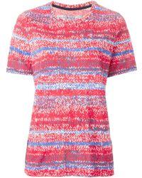 Tory Burch Short-Sleeve Knit-Print Jersey Tee pink - Lyst