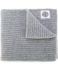 Stone Island | Chunky Knit Scarf | Lyst