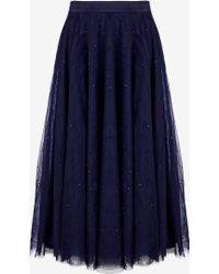 Ted Baker | Phae Embellished Midi Tulle Skirt | Lyst
