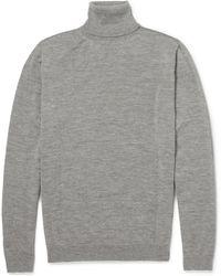 Calvin Klein Rollneck Cashmere Sweater - Lyst