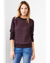 Gap Quilted Grid Sweatshirt - Lyst