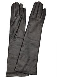 Portolano | Black Cashmere Lined Leather Gloves | Lyst