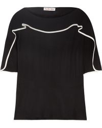 See By Chloé Ruffled Crepe Top - Lyst