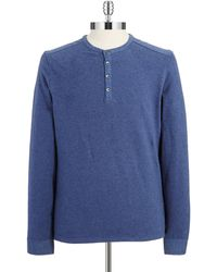 Vince Camuto Long Sleeved Henley - Lyst