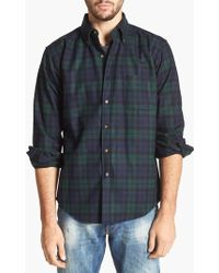 Pendleton | 'fireside' Fitted Plaid Wool Flannel Shirt | Lyst