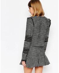 Sister Jane Tarot Tweed Jacket - Gray